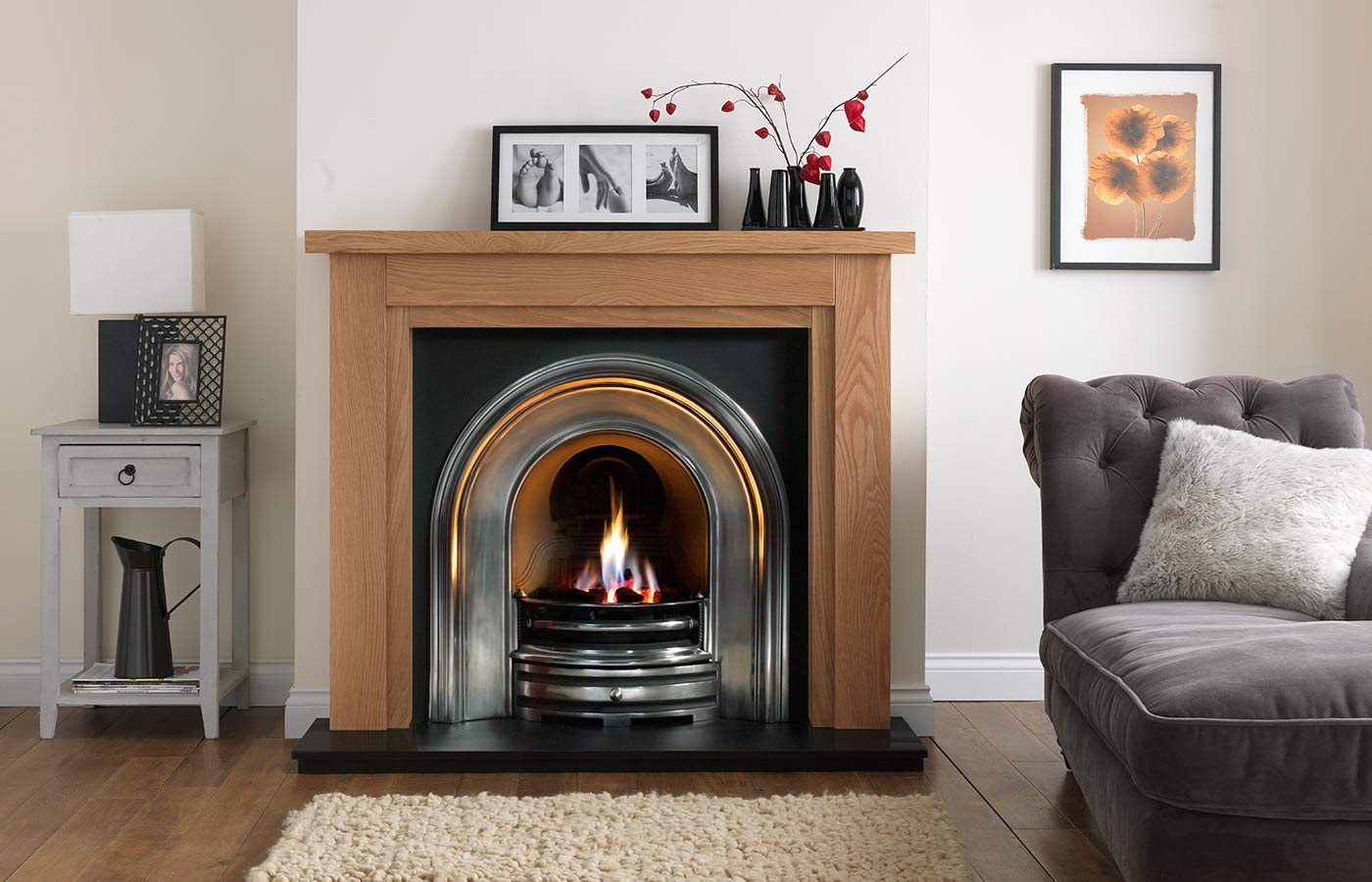 Calabria Natural Oak with Opus Cast Iron Highlight Insert