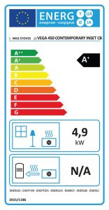 Vega 450 Contemporary Inset Stove Energy Label