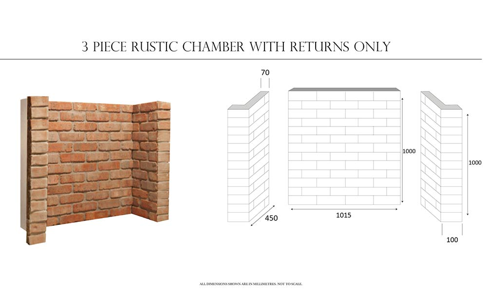 3-Piece Rustic Brick Chamber With Returns Only