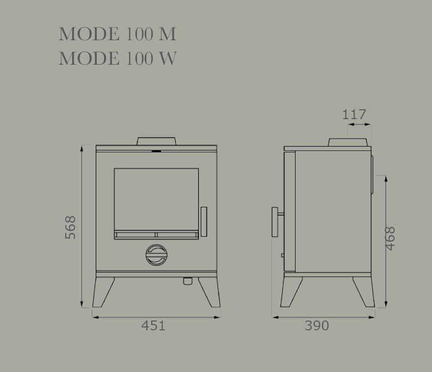 Mode 100 Dimensions